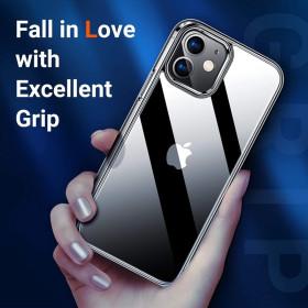 iPhone 12 MINI prémium szilikon tok, ÁTLÁTSZÓ - mob-tok-shop.hu
