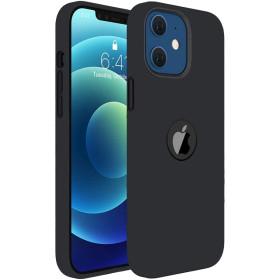 iPhone 12 / 12 PRO prémium szilikon tok, fekete - mob-tok-shop.hu