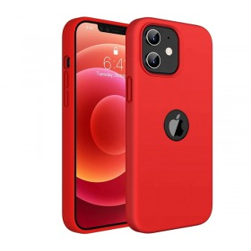 iPhone 12 / 12 PRO prémium szilikon tok, piros - mob-tok-shop.hu