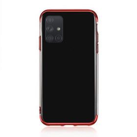 Samsung Galaxy A71 átlátszó szilikon tok, ELECTRO PIROS