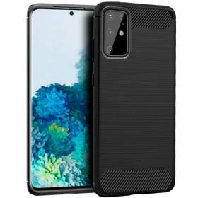 Samsung Galaxy S20 PLUS karbon (carbon) mintás szilikon tok, FEKETE