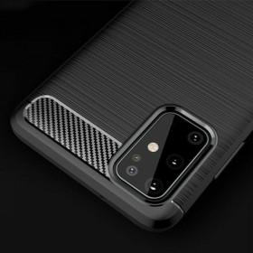 Samsung Galaxy S20 PLUS karbon (carbon) mintás szilikon tok, FEKETE - mob-tok-shop.hu