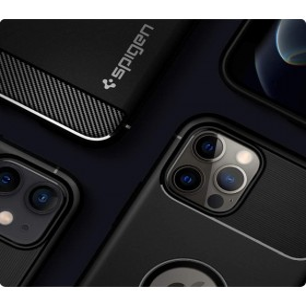 iPhone 12 / 12 PRO SPIGEN RUGGED AMOR szilikon tok, FEKETE - mob-tok-shop.hu