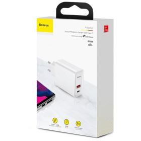 Baseus Speed PPS QC3.0 USB Type-C hálózati gyorstöltő adapter (CCFS-C02), FEHÉR - mob-tok-shop.hu