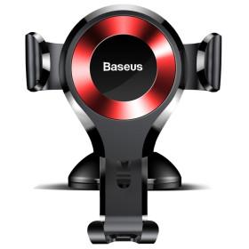 BASEUS gravitációs autóstartó szélvédőre / műszerfalra, fekete-piros - mob-tok-shop.hu