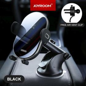 JOYROOM JR-ZS200 Hornet 2in1 15W Wireless Autós Töltő és Tartó - Fekete