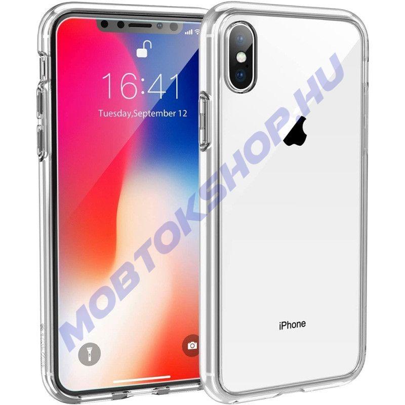 iPhone X / XS szilikon tok, ÁTLÁTSZÓ - mob-tok-shop.hu