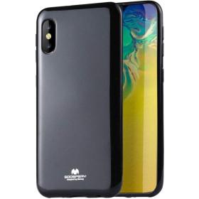 iPhone X / XS, Mercury JELLY szilikon tok, METÁL FEKETE - mob-tok-shop.hu