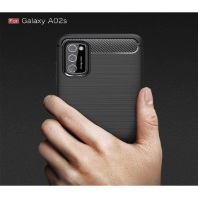 Samsung Galaxy A02S karbon (carbon) mintás szilikon tok, fekete - mob-tok-shop.hu